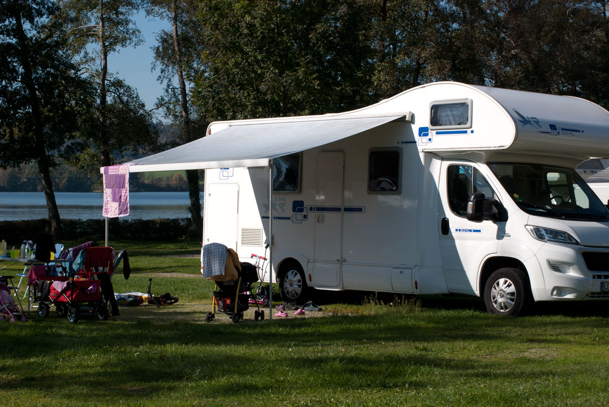 Wohnmobil mit Kindern - Camping am Waginger See