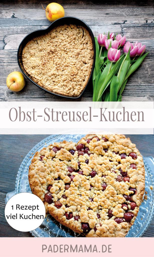 Obstkuchen mit Streuseln