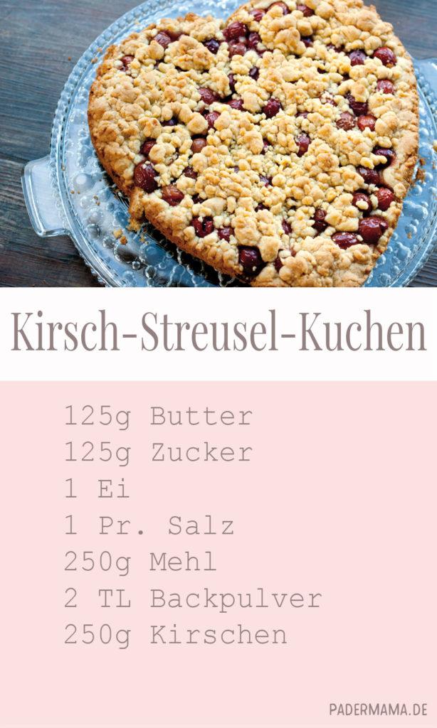 Kirschkuchen mit Streuseln Rezept