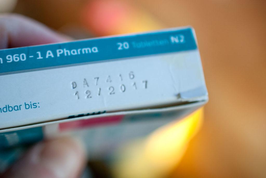 abgelaufene Medikamente in der Hausapotheke