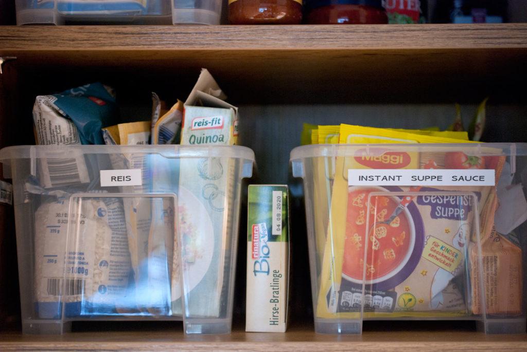 Lebensmittel Vorräte für den Notfall
