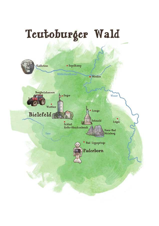 OWL Karte Ausflugsziele